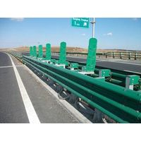 Highway guardrail plate