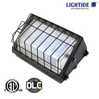 DLC Qualified 90W LED Wall Pack & Parking Lot Lights, 200-480VAC, Glass Refractor, 5 Years Warranty thumbnail image