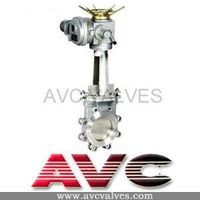 AVC Knife Gate Valve with Electric Operation