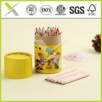 factory direct-sale mini 3.5'' coloured pencils set in kraft paper tube