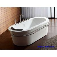 Oval shape free stand soaking bathtub UB12