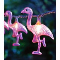 Flamingo & Palm Tree Party String Lights