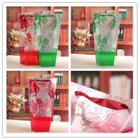 Flower Wrapping Hand-Held Plastic PVC PP Gift Bag Floral Packing Bag for Florist Supplies