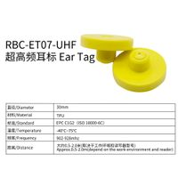 RFID Electronic ear tag for livestock two piece yellow thumbnail image