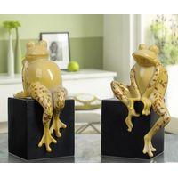 vivid handmade frog resin animal