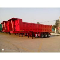 3 Axles Hydraulic Tail Lift Trailer / End Dump Trailer