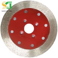 Diamond continuous rim saw blade for stone slab cutting and grooving thumbnail image