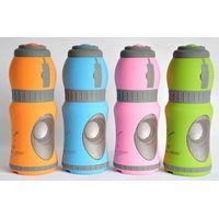 Bottle-shaped outdoor sports speaker TF/SD Card