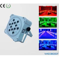 12 Lens RGBW Four Color 4W 4in1 Rechargeable Wireless DMX LED Par Light