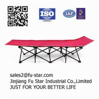 Oxford fabric heavy duty cheap folding portable camping bed thumbnail image