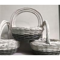 homemade christmas gift basket with handle