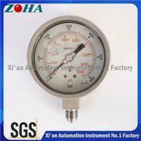 316L Bourdon Tube Wika Pressure Gauges Big Quantity OEM