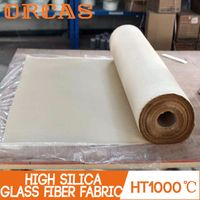 High temperature insulation fireproof high silica glass fiber cloth