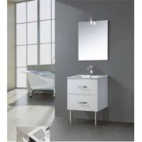 Hangzhou high gloss white wicker drawer cabinet bathroom