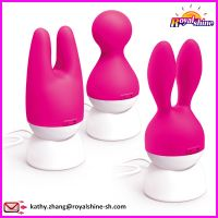 Magnetic Rechargeable Lovely Rabbit Cat Head Vibrator Adult Sex Toy