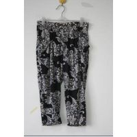 wholesale ice silk pants for middle aged women fat loose in flower