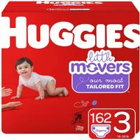 Huggies Little Movers Baby Diapers, Size 3, 162 Ct