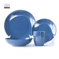 wholesale 16pcs solid color glaze ceramic stoeneware dinnerware set