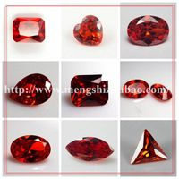 fabulous shiny facet garnet  red color Loose CZ Stone for jewelry making