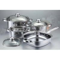 7pcs stainless steel square cookware set
