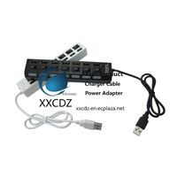 7 USB Ports USB HUB 2.0 High-Speed Black White Foreign Trade