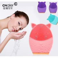 Silicone Face Cleansing Brush Electric Mini Cute Cat Massager Waterproof Sonic Facial Massager USB
