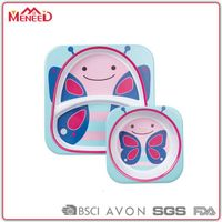 BPA FREE Animal shaped baby feeding sets/ Food safety melamine plates & bowls for children