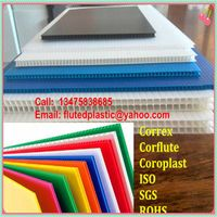 PP corrugated plastic correx sheets for floor and construction protection