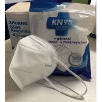 In Stock USD$0.5 / PCS Disposable KN95 Mask Non-woven Face Mask Disposable Earloop Respirator