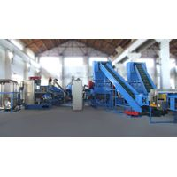 Waste Plastic PET bottle washing and recycling line