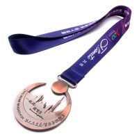 Guangzhou factory directly custom polyester medal lanyard