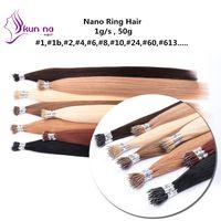 "Nano Bead Extensions 1g/s Real Human Hair Straight Nano Hair Extensions 18""20""22""24"""