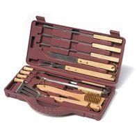 Wooden handle bbq tool set thumbnail image