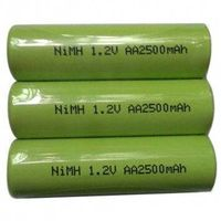 Hot Sale 1.2V AA NiMH Rechargeable Batteries, 2,500mAh Capacity, RoHS Mark