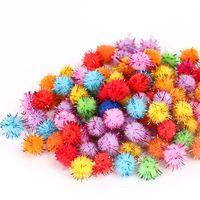 Assorted Color Tinsel Craft Pom Poms