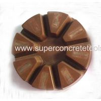 Resin polishing pad with embedded metal