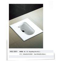 Ceramic toilet Squatting Pan W.C. toilet pan