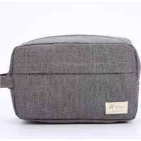 6 Colors Custom Logo Cheap Polyester Travel Toiletry Bags Private Label Man Toiletry Wash Bag thumbnail image