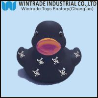 floating rubber bath duck baby toy with printing logo