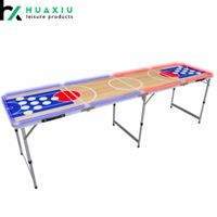 Custom Printing Competitive Price Beer Pong Table with LED Lightning