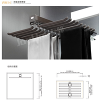 Top-mounted Dual Row Trousers Rack WM14 thumbnail image