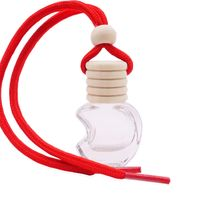 manufacturers round apple shape car diffuser perfume bottle with wooden cap thumbnail image