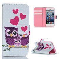 Fashion Phone Case Bag For iPhone SE Hot Print Wallet Cases Smartphone bag wholesale