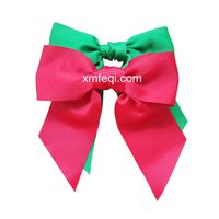 Big twist ribbon bows red and green for Xms tree