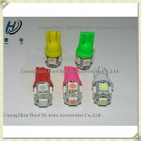 china manufacturer w5w t10 5smd 5050 smd car led light