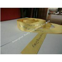 Custom 100% Polyester Ribbon Gold Printing Holiday's Gift Ribbon thumbnail image