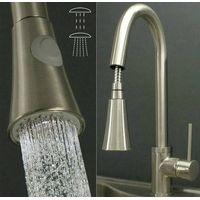 Estrarre nickel spazzolato cucina lavello rubinetto