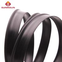 Black waterproof matte plastic piping welt cord