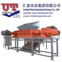 two shrears shredder/ recycled solid waste crusher machine shredder manufacture