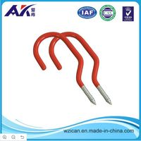 Heavy Duty Red Coated Bicycle Hook Storage Hook
